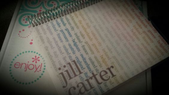 Love my new Erin Condren notebook! It has all the countries I've traveled to on it. #erincondren