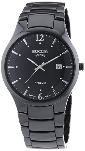 Boccia Herren-Armbanduhr XL Ceramic Analog Quarz Keramik 3572-02