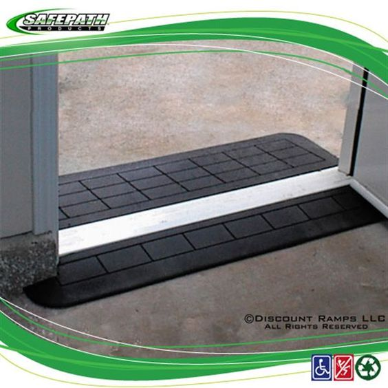 Wheelchair Access Front Door: SafePath EZ Edge Transition Rubber Threshold Ramp