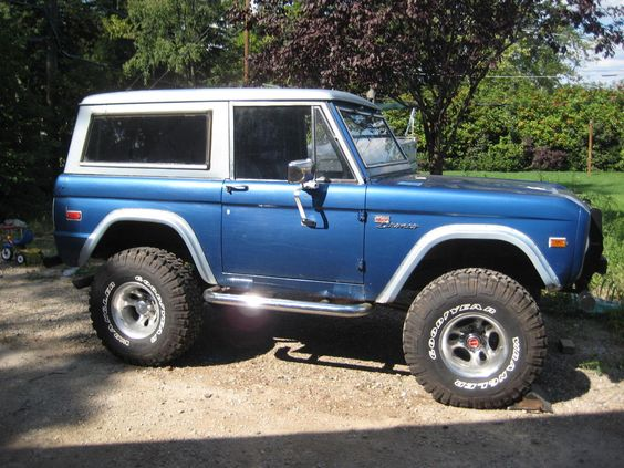 1972 Ford Bronco- My brother had one... Someday I will have one.