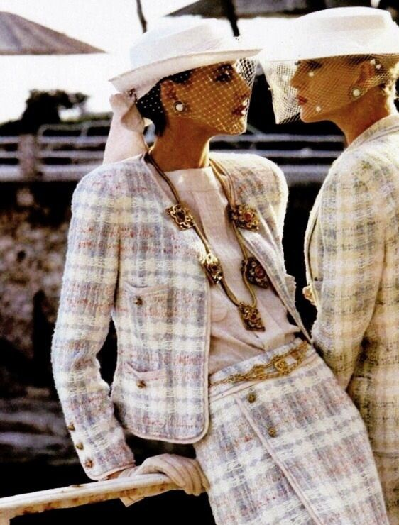 Chanel Tweed Clothing Alterations - Chanel Clothes - Trending Chanel Clothes #chanel #clothes #chanelclothes - Eighties fashion and Chanel tweed suits www.londonfitting #Vintage #StyleInspo