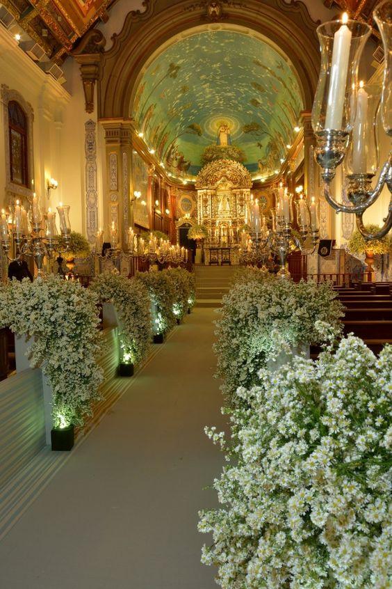 10 Inspirações de decoração de casamento para a igreja: