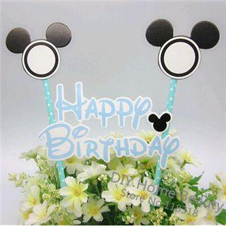 ( 7 Styles ) Mickey gâteau Toppers emballages de petit gâteau Minnie souris décoration de mariage choix pour la fête d'anniversaire fournitures faveurs de cuisson