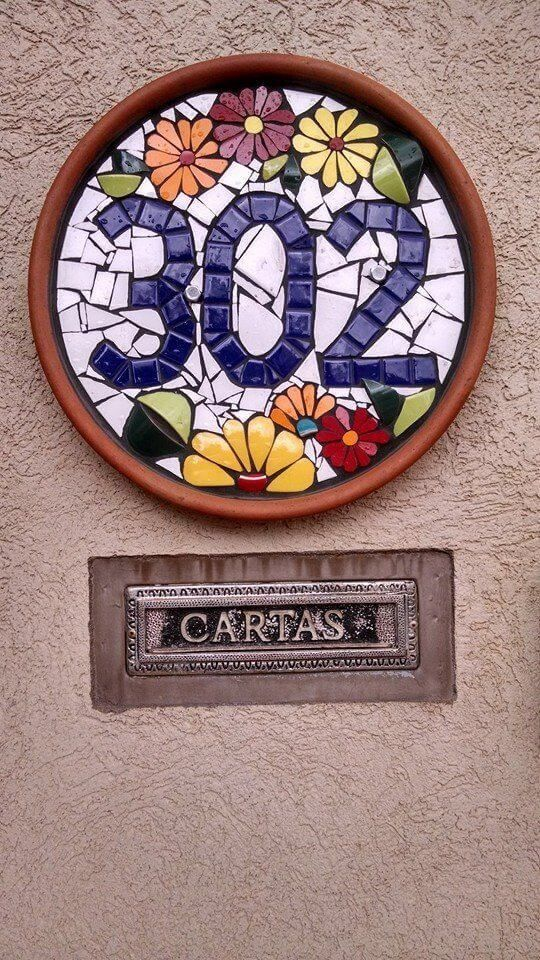 Make Your Own House Numbers Ideas Creative With These Easy Ideas Diy Address Plaques Are Easy Projects You Can Do In An A Mosaic Art Mosaic Artwork Mosaic Diy
