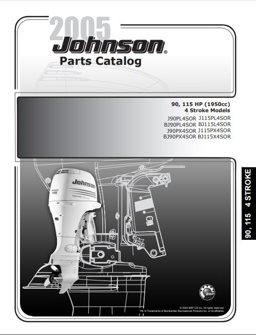 2005 Johnson Evinrude 90 115hp 4 Stroke Parts Catalog Manual Download Dsmanuals Parts Catalog Repair Manuals Repair