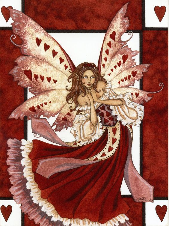 Valentines Day Fairy: These beautiful creatures (aka) Cupids Helpers are very picky when it comes to true love. Although they may not have arrows like Eros (Cupid) they use a magical touch in causing people to fall in love. Also, these type of fae are always busy, and its not just the one day out of the whole year. However on Valentines Day it is the busiest day ever for these Fae. These creatures should never be invoked, unless it is a real emergency! Word of advice, let love come to you, w...: