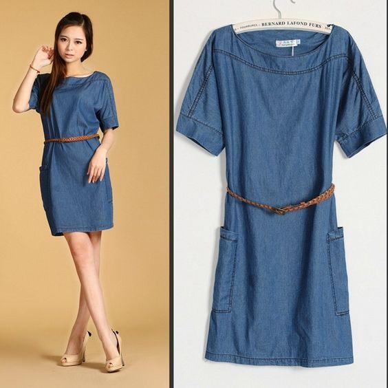 Womens denim dress jeans | Good style dresses | Pinterest ...