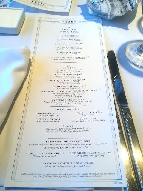 Carnival Cruise Menu And Food Pictures Any Tots Carnival Cruise Food Carnival Imagination Carnival Imagination Cruise