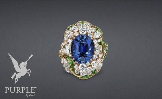 """Check this great addition to you fashion this """"Galon Saphir"""" ring in yellow and pink gold with diamonds sapphire and emeralds by @dior #purplebyanki #love #instagood #beautiful #diamond #finejewellry #highjewellry #YellowGold #PinkGold #Sapphire #Emerald"""