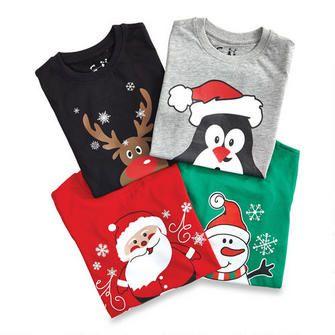 Boy's Long Sleeve Holiday T-Shirts - 2-6x $5.00