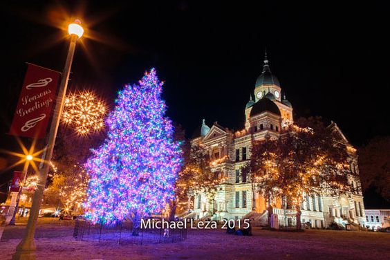 Stretched Canvas - Happy Holidays on the Square 2015 edition - Denton Texas County Courthouse