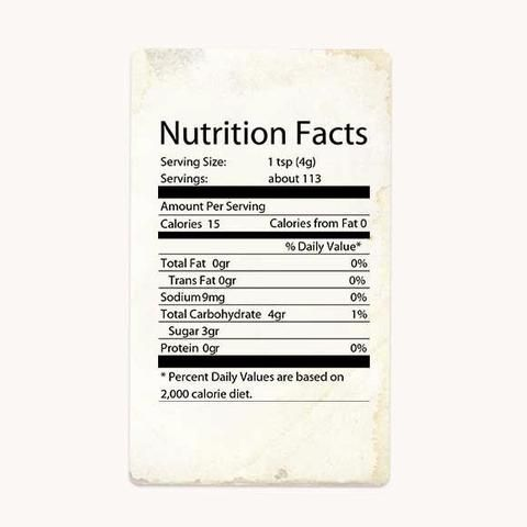 Nutrition Label Coconut Sugar Nutrientssweetener Nutrientsinsweeteners Whatsugar Whatsugarblo Organic Coconut Sugar Nutrition Facts Label Coconut Sugar