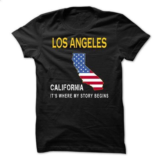 LOS ANGELES - Its Where My Story Begins - #cute hoodie #cropped sweatshirt. SIMILAR ITEMS => https://www.sunfrog.com/States/LOS-ANGELES--Its-Where-My-Story-Begins-pvjzs.html?68278