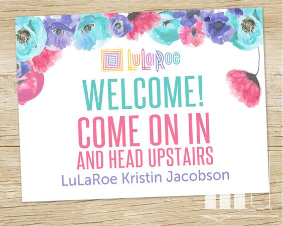 LuLaRoe Shop Sign, LLR Custom Door Sign 18x24 by MulliganDesign