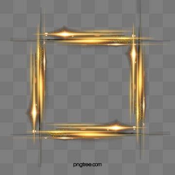 Bordo Linea Effetto Luce Dorata Clipart Di Rettangolo Fantasia Luce Fredda File Png E Psd Per Download Gratuito In 2021 Baroque Frames Golden Lights Clip Art Borders