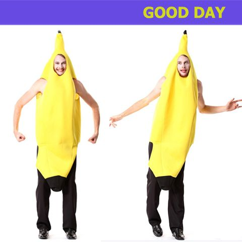 Banana Costume: party decoration supplies active novelty  costumes fancy dress for adult banana costume for free shipping $33.91