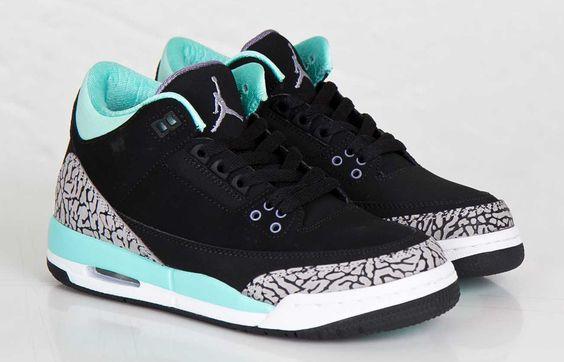 nike genouillères rondo - Air Jordan 3 Retro GS ��Bleached Turquoise�� (Release Update ...