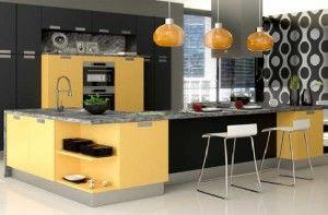 Modelo de cozinhas decorada moderna
