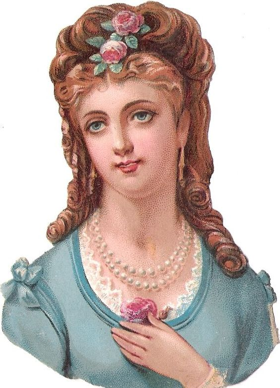 Oblaten Glanzbild scrap die cut chromo Dame lady 10,8cm girl head Kopf portrait: