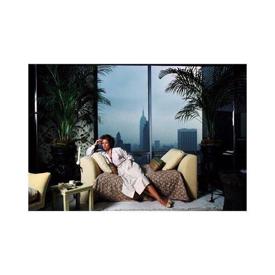 Hélène Rochas photographed at her New York apartment in 1979.  #HeleneRochas #TBT #RochasHeritage #NewYork