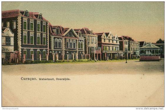 curacao, D.W.I., WILLEMSTAD, Waterkant Overzijde, Bandstand (1899)