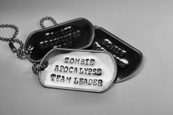 The Zombie Apocalypse Team Leader Dog Tags