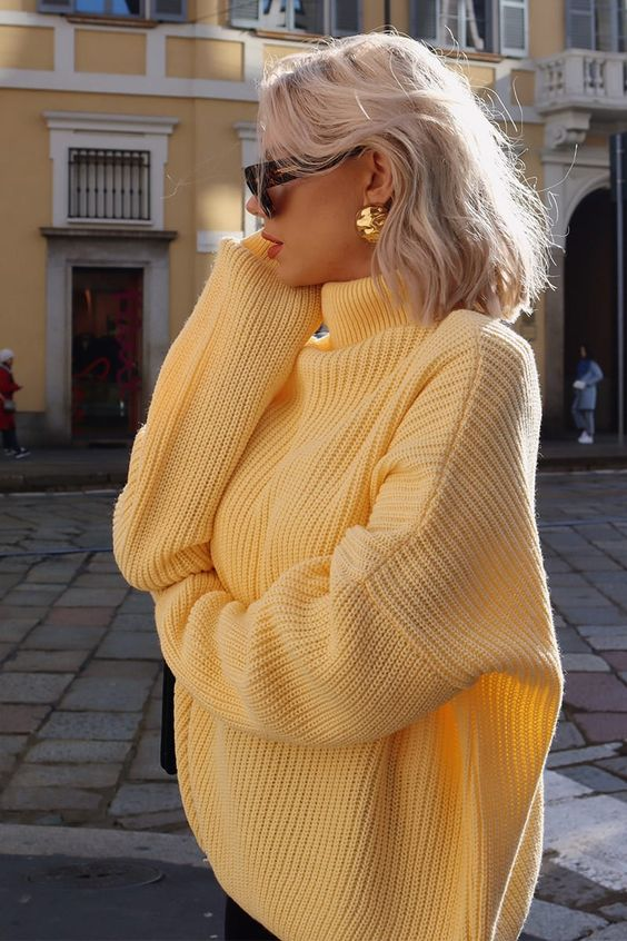 Laura Jade Yellow 'the Jade Knit' Jumper | In The Style