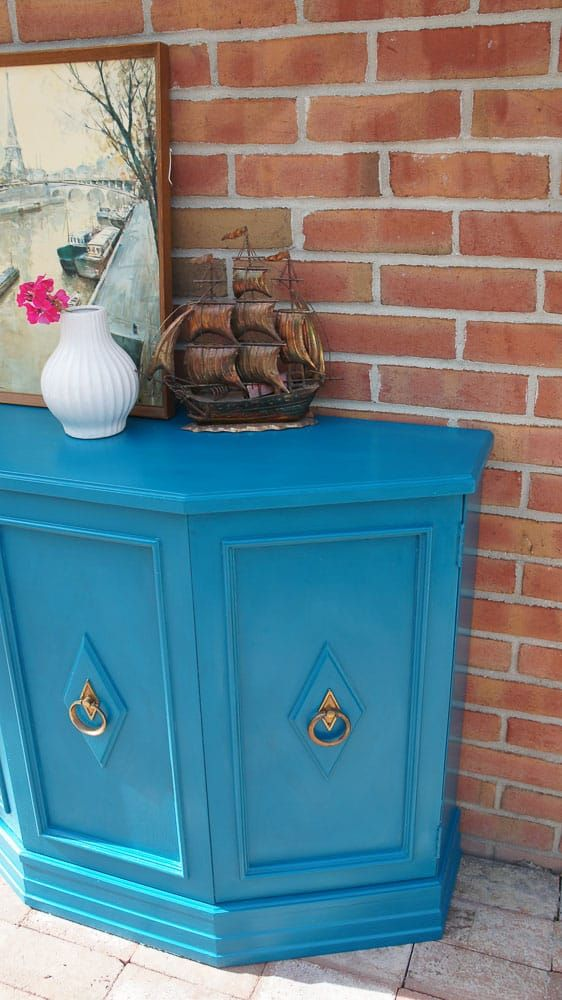 Mcm Console Table Painted In Reverie By Country Chic Paint Country Chic Paint Country Chic Furniture Makeover