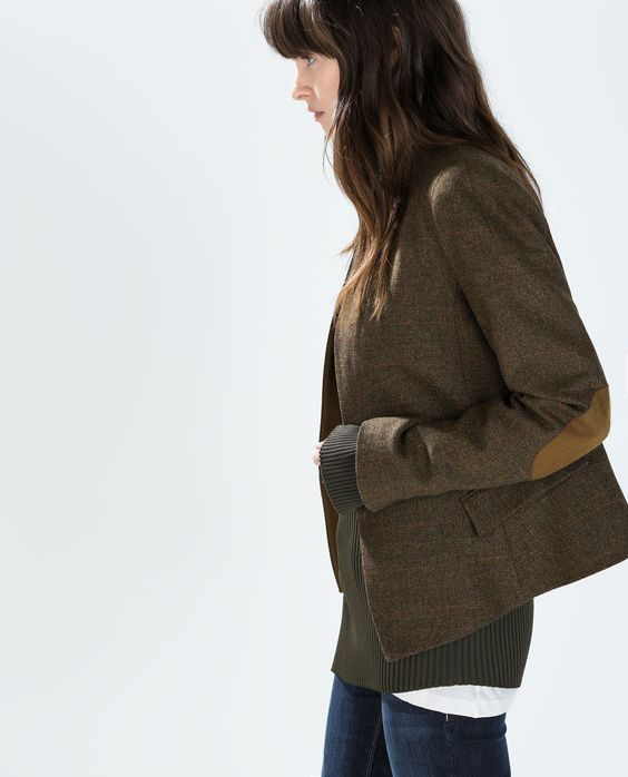 I want this blazer for fall ZARA - WOMAN - BLAZER WITH CONTRAST PIPING