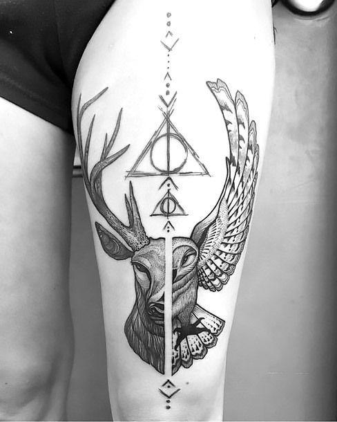 Amazing Harry Potter Inspired Tattoo Idea Inspirationaltattoos With Images Harry Potter Tattoos Inspirational Tattoos