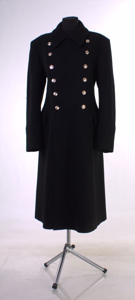 Details about New USSR Russian Navy Uniform Black Overcoat Wool