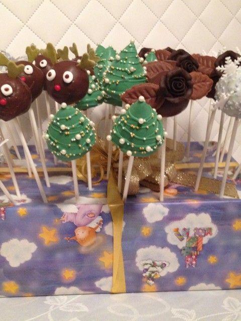 Cakepops Weihnachten Christbaum Schneeflocke