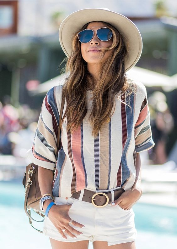 Best Coachella Festival Outfits 2017 | Sincerely Jules blogger | Stripes