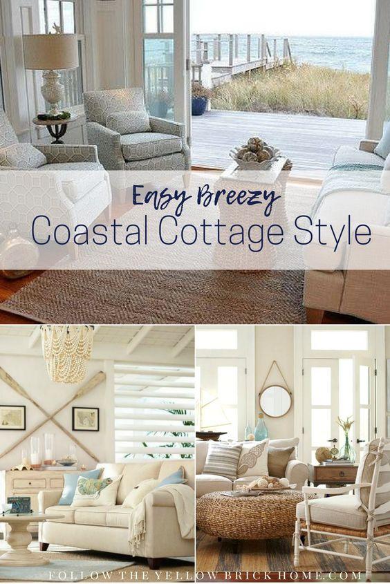 Beach style Coastal style rooms Coastal living, beach homes coastal decor summer decorating ideas #coastalstyle