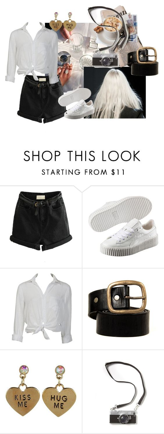 """""""White Lines"""" by marlborolight on Polyvore featuring moda, Puma, Charlotte Russe y Betsey Johnson"""