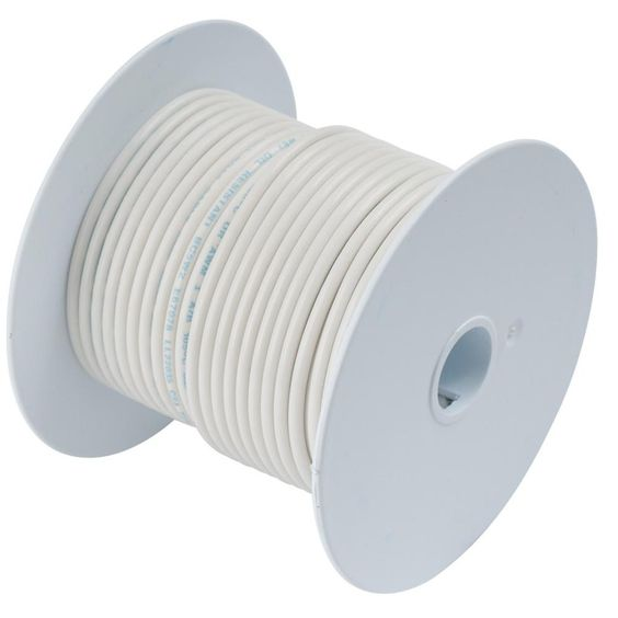 Ancor White 10 AWG Tinned Copper Wire - 100'