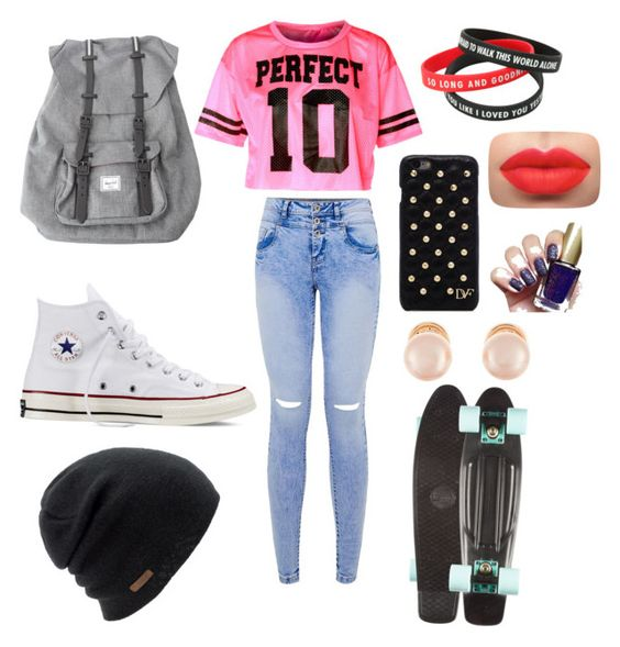 """Skater girl"" by hadleemarriott ❤ liked on Polyvore featuring schoonheid, Converse, Herschel, Coal, Diane Von Furstenberg en Kenneth Jay Lane"