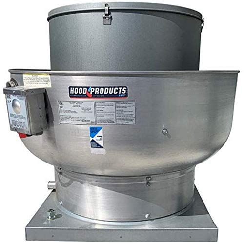 Amazing Offer On 400 1000 Cfm Restaurant Upblast Exhaust Fan Grease Rated Canopy Hood With Speed Control 25 Hp 115 V Single Phase With 21 X 21 Base Online In 2020 Exhaust Fan Stainless Steel Containers Cookware Set