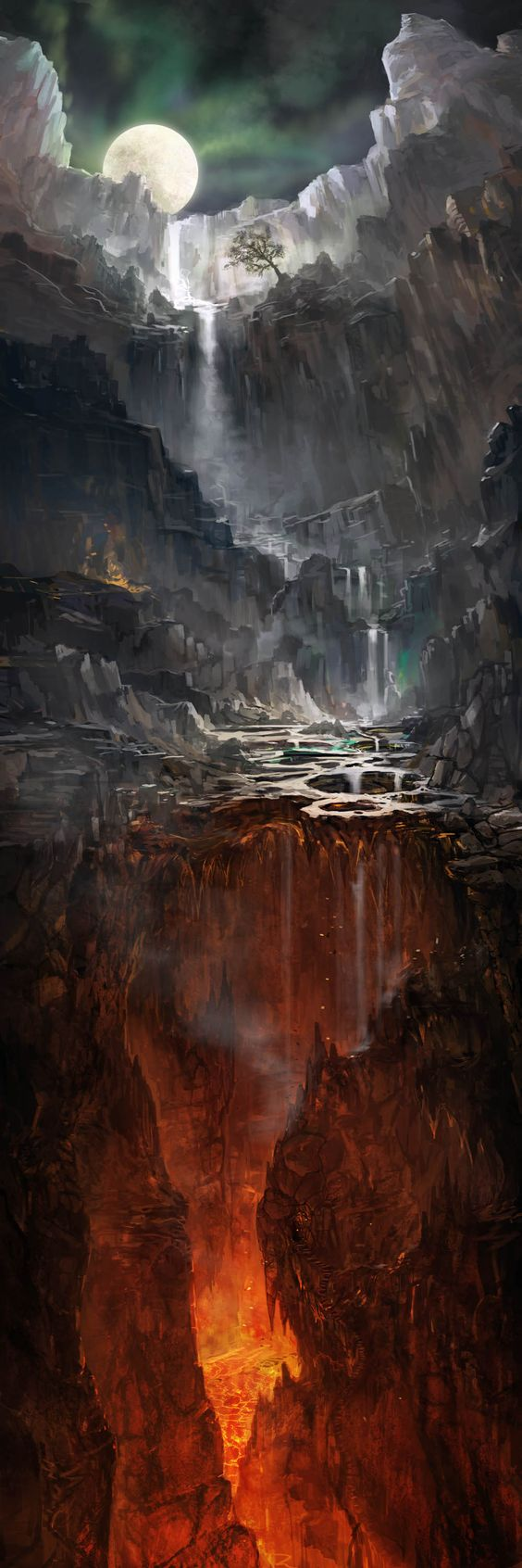 Inspiration for the Deep End of the Hollowlands. #MetalShadow Great Chasm by jbrown67 on deviantART