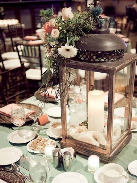 Lantern for table decorations wedding pinterest