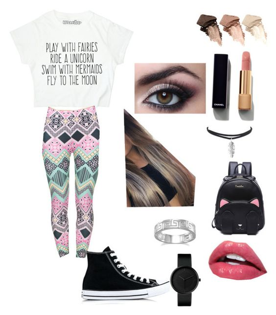 """Untitled #14"" by niania-i on Polyvore featuring Converse, Urban Decay, Chanel and BillyTheTree"