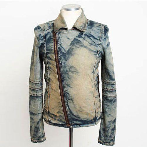 men's denim rider jacket