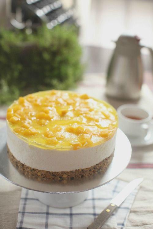 Manggo Cheese Cake Yang Sangat Awesome Masam Manis Kue Keju Memanggang Kue Resep Kue