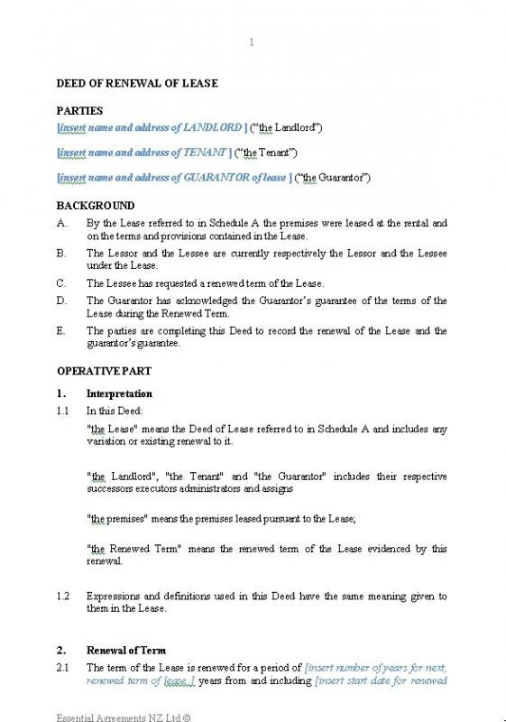Lease Renewal Letter With Images Contract Template Good Essay