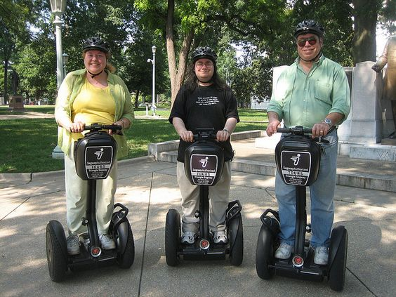 The Three (Segway) Stooges. At Capitol Square in Raleigh. June 2010.