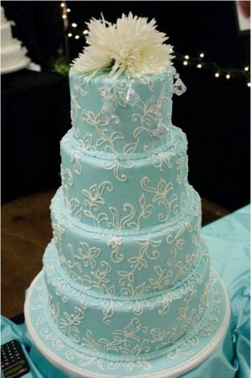 light blue and brown wedding cakes light blue wedding cake keywords weddings 16845