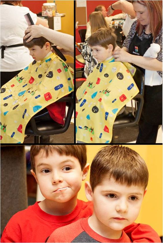Consecutive haircuts for these adorable brothers.  Boy's Haircut at Junior Cuts (kids hair salon) in Milford, OH (Cincinnati).