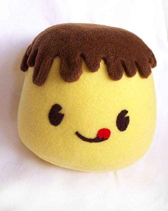 Giga puddi pudding meme fleece japanese kawaii food