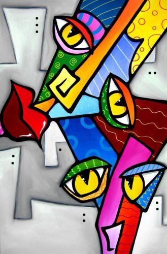 Abstract Art Wall Print Original Modern Fun Color Eye Pop Huge Canvas Fidostudio Arte Abstracto Dibujos Abstractos Abstracto
