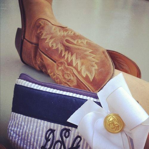 Boots & a monogram